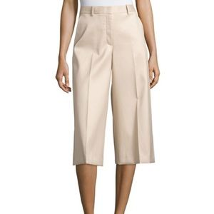 Theory cotton culottes size 0 worn once kaki tan